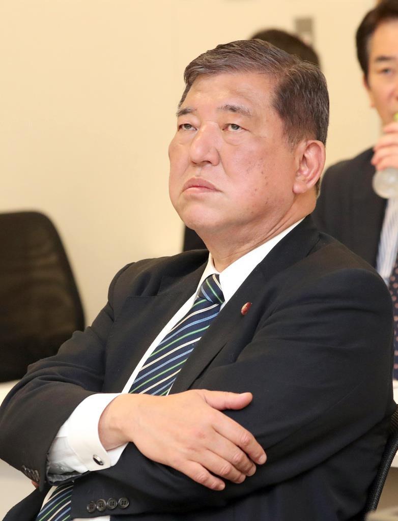 自民党の石破茂元幹事長(春名中撮影)