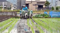 西日本豪雨被災地で稲作再開 岡山・真備町