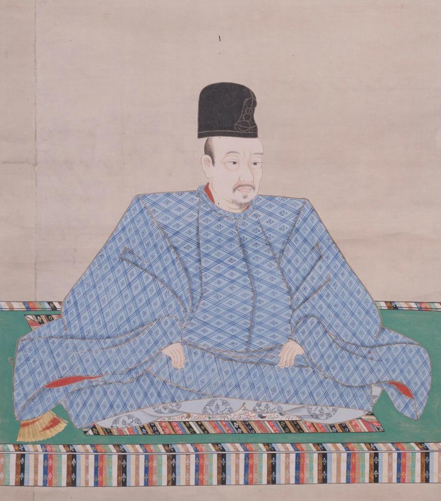 後陽成天皇宸影=模本、東大史料編纂所蔵