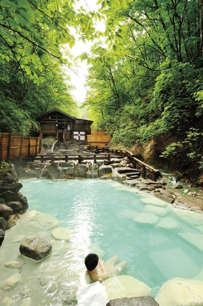 蔵王温泉の大露天風呂(提供写真)