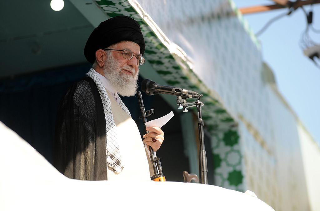 イランの最高指導者ハメネイ師=テヘラン(イラン最高指導者事務所提供・ゲッティ)