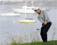 松山英樹、ウッズら最終調整 全米OPゴルフ開幕へ