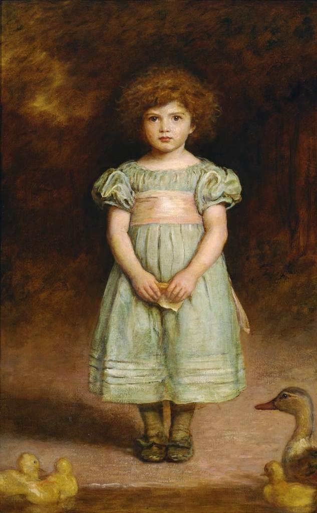 ジョン・エヴァリット・ミレイ「あひるの子」1889年 油彩、カンヴァス 国立西洋美術館(旧松方コレクション)