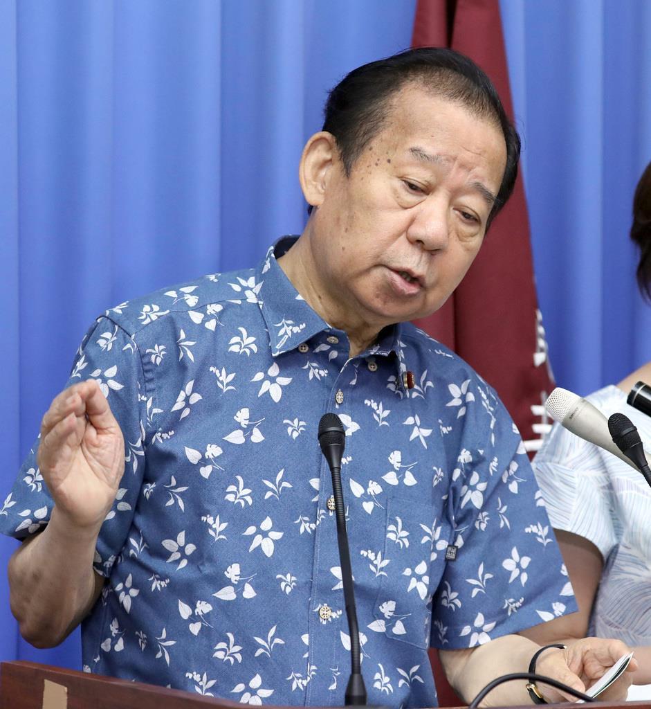 自民党の二階俊博幹事長(春名中撮影)