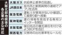 大阪北部地震1年 ガスや鉄道の早期復旧対策進む