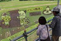 テーマは「歴史」 那須塩原で田んぼアート