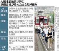 【都市災害から守る】(中)電車内で地震、どうする 停電、閉じ込め…常に心構えを