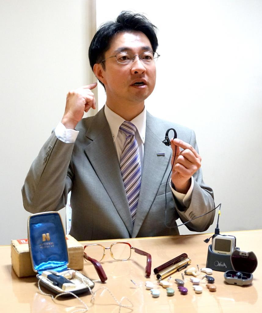 補聴器事業に14年携わってきたパナソニック補聴器の光野之雄さん。ユーザーの意見を製品開発に生かしてきた=東京都千代田区