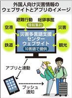外国人向け災害アプリ開発へ 10言語で交通、避難情報 大阪府