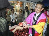 震災と豪雨…支え合い復興 福島・福岡両県が博多駅前で特産物販売