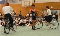 ロードレースのプロが高校生に自転車安全指導 広島