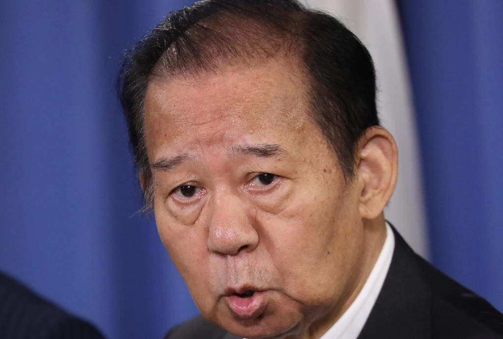 自民党の二階俊博幹事長=17日午後、東京・永田町の自民党本部(春名中撮影)
