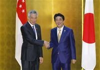 安倍首相、シンガポール首相と北朝鮮非核化で一致