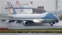 伊丹空港で9便遅延、米機着陸で上空待機か