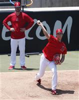 大谷が手術後初の投球練習 「気持ち良く投げられた」