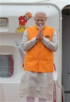 インドのモディ首相が関空に到着