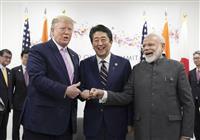 日米印で安保協力強化 3カ国首脳会談