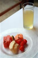 【ヒューリック杯棋聖戦】午後のおやつは両者とも午前に続きフルーツとケーキ