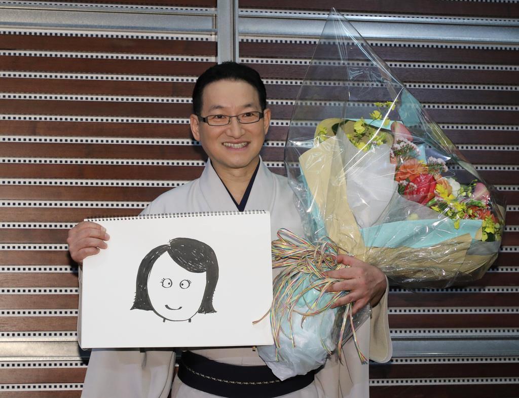 結婚すると発表した落語家の春風亭昇太さん=30日午後、東京都港区(萩原悠久人撮影)