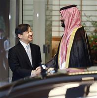 陛下、サウジアラビア皇太子とご懇談
