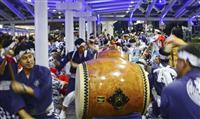 「小倉祇園太鼓」400周年 打ち初め式、響く3拍子