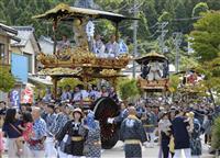 地震乗り越え、祭り開催 山車行列にぎやかに 新潟