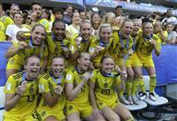 スウェーデンが3位 サッカー女子W杯