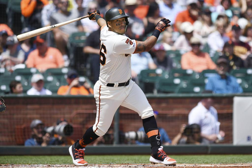 阪神が新外国人選手として獲得したヤンハービス・ソラーテ内野手(サンフランシスコ・ジャイアンツ時、ゲッティ=共同)