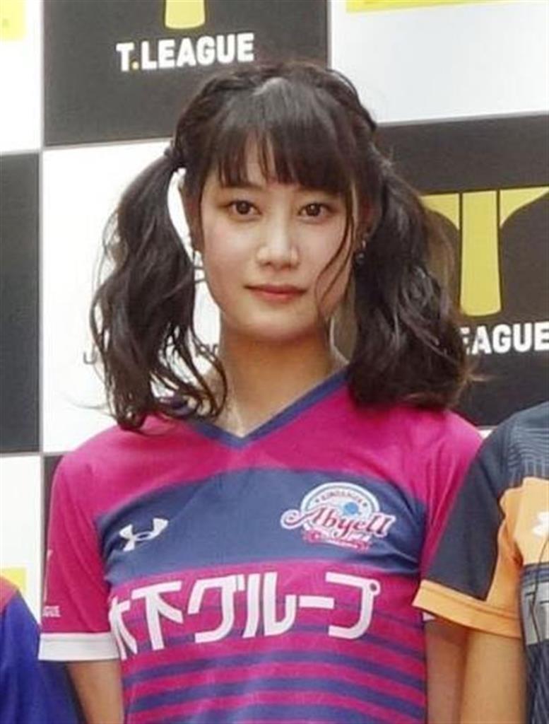 モデル活動もするなど人気選手だった卓球元日本代表の浜本由惟=2018年8月、東京都港区
