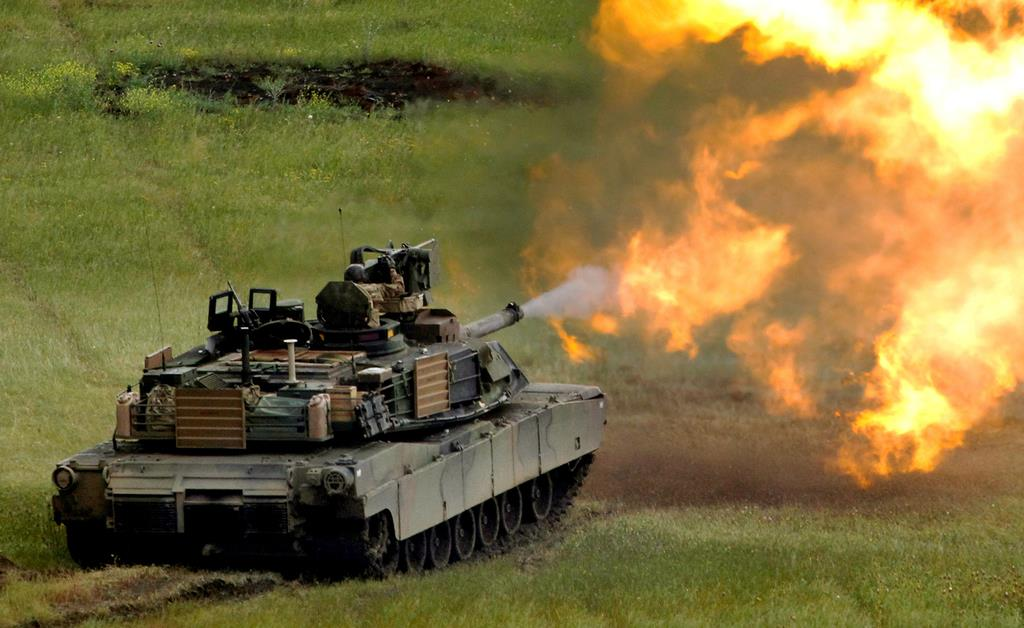 米国が台湾に売却した戦車「M1A2エイブラムス」(ロイター)