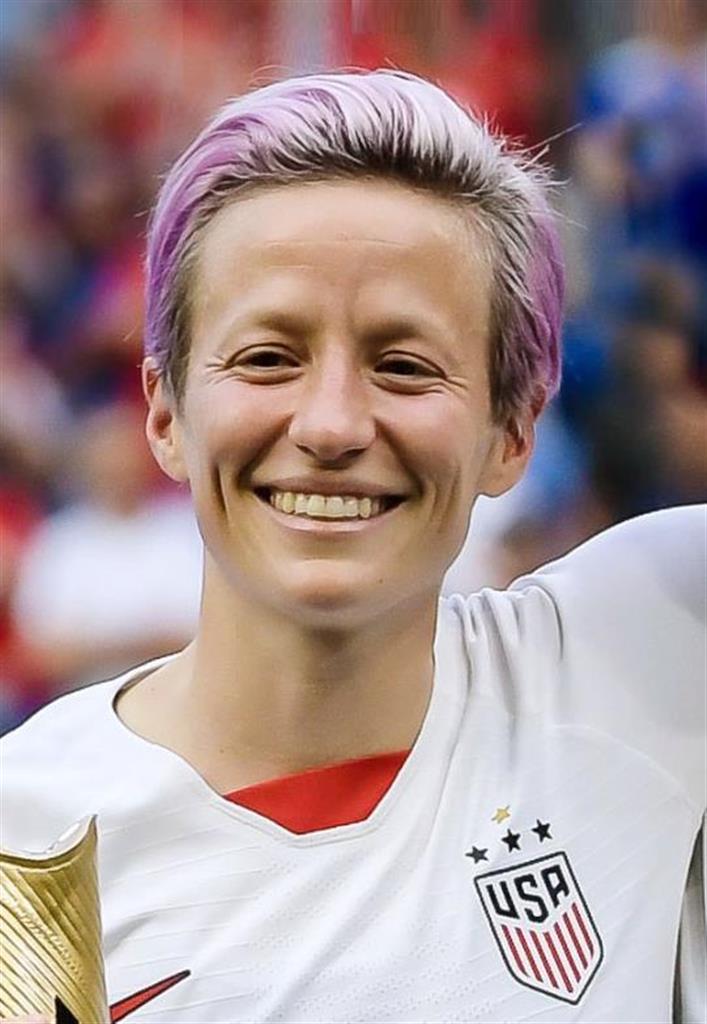 サッカー女子米国代表のラピノー選手(ゲッティ=共同)