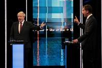 英党首選決選投票の初のテレビ討論会 離脱時期で2候補の意見分かれる