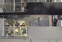 大阪でマンション火災 高齢女性1人死亡