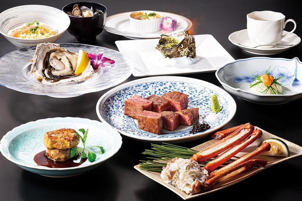 「鳥取和牛大山不二家心斎橋本店」で提供される料理