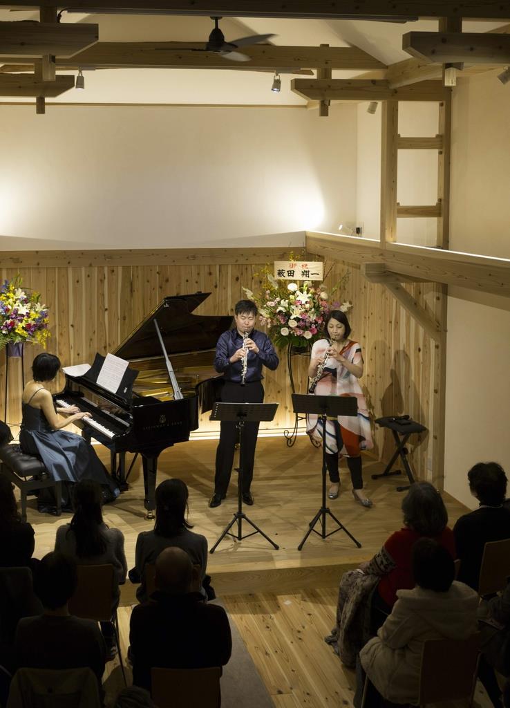 古民家風音楽ホール「音乃蔵」で3月に催されたこけら落としコンサート=兵庫県たつの市(井口英樹さん提供)