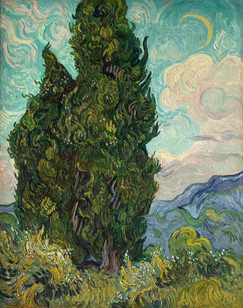 フィンセント・ファン・ゴッホ 《糸杉》 1889年6月 油彩・カンヴァス 93.4×74cm メトロポリタン美術館Image copyright (c)The Metropolitan Museum of Art.Image source: Art Resource, NY