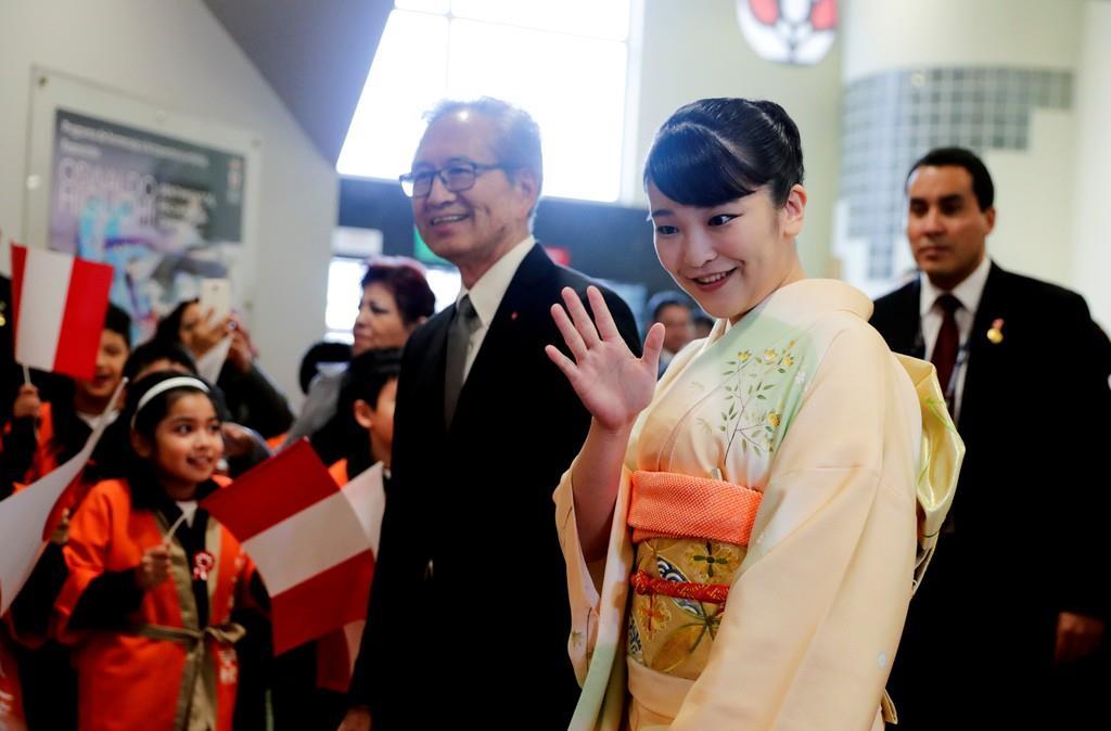 ペルーを公式訪問中の秋篠宮ご夫妻の長女、眞子さま=10日、リマ(ロイター)