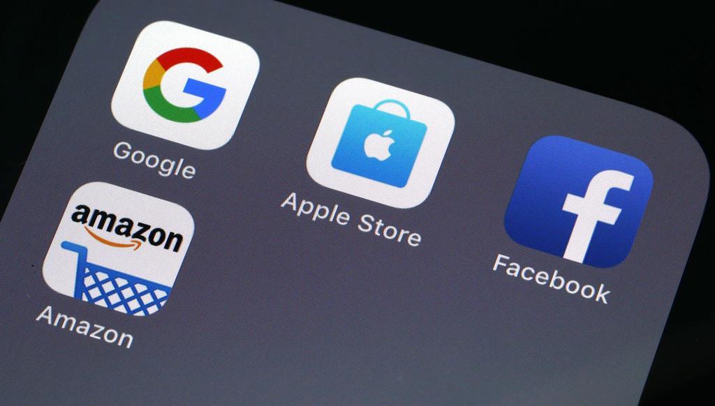 米IT大手(グーグル、アップル、フェイスブック、アマゾン)のアイコン