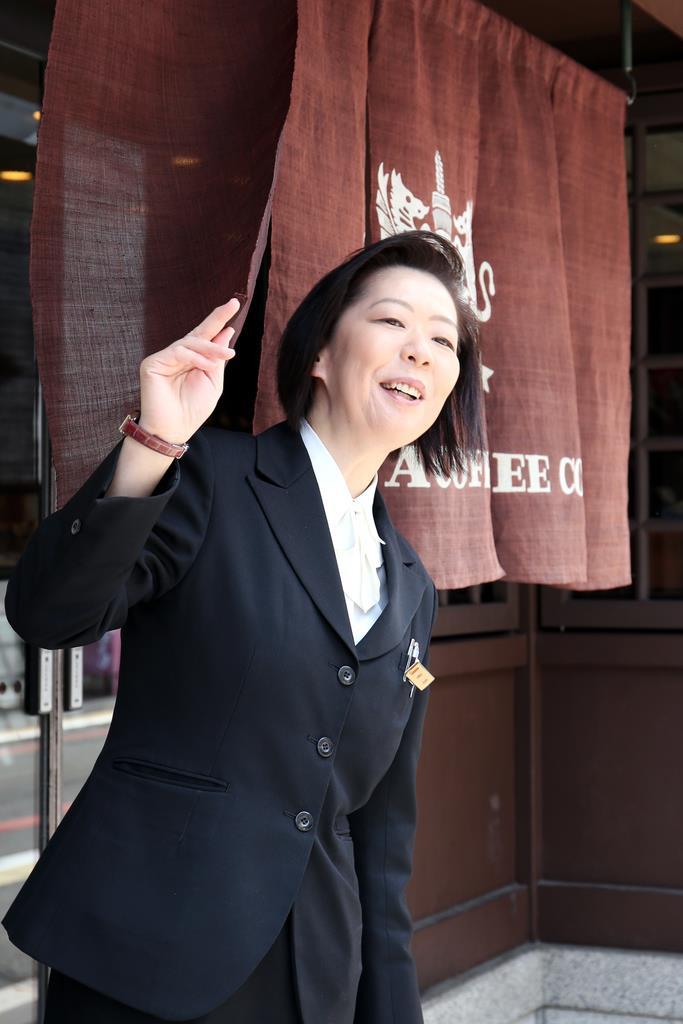 イノダコーヒ本店店長の植坂理栄子さん=京都市中京区(前川純一郎撮影)