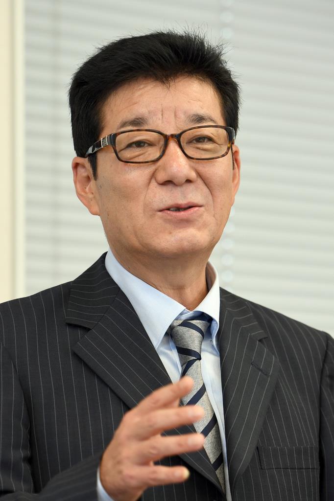 日本維新の会・松井一郎代表(寺河内美奈撮影)