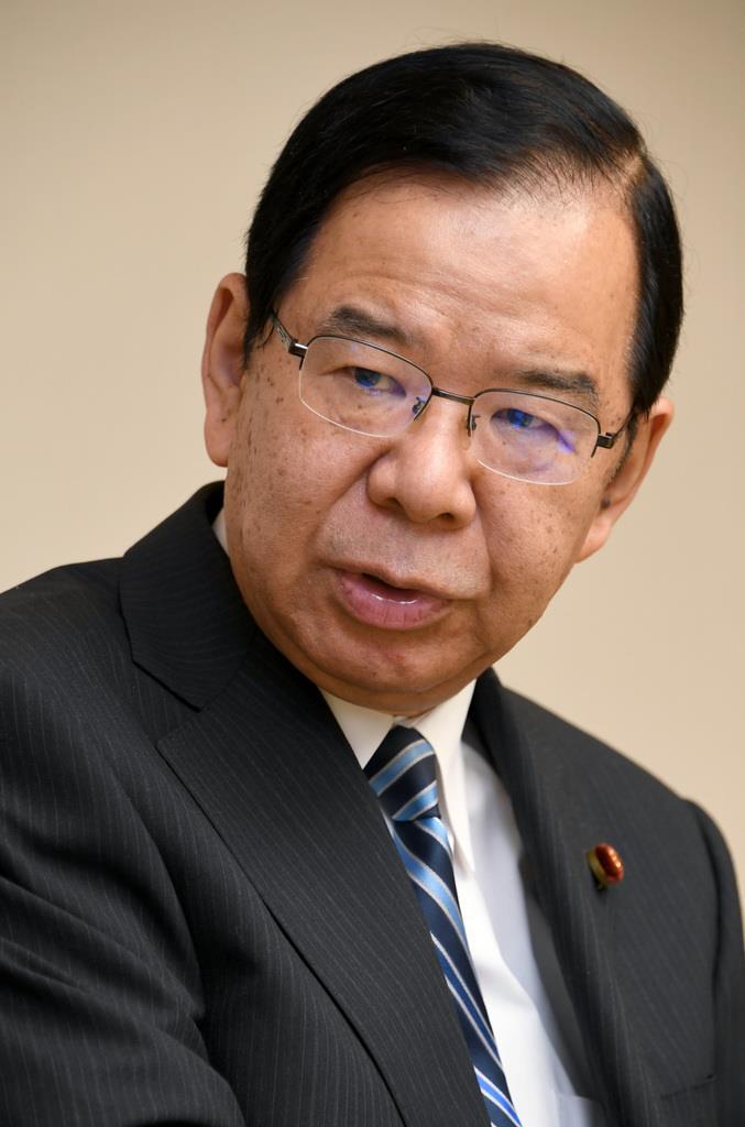 共産党・志位和夫委員長(酒巻俊介撮影)