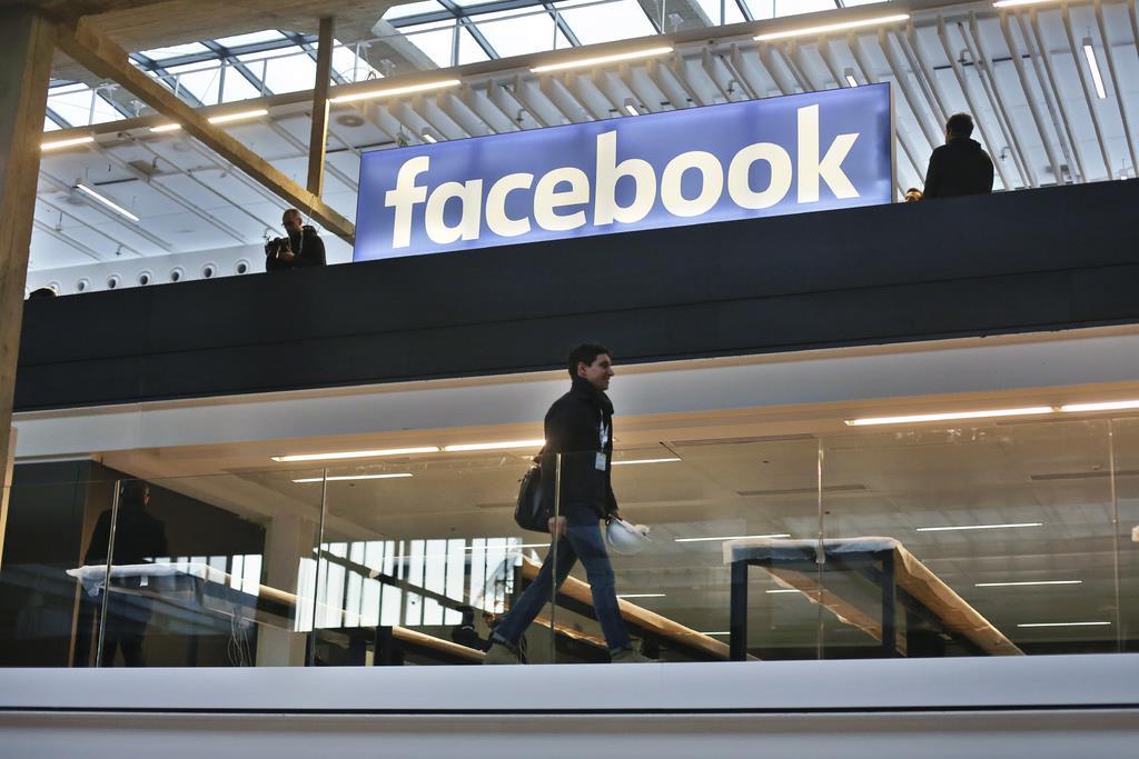 フェイスブックのロゴ(AP)