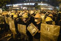 本土境界へデモ拡大 香港、主催者「11万人超」 警察、一部を拘束