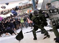 香港デモで40人超逮捕 違法集会容疑、28人負傷
