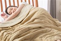 サラッと気持ちよく眠れる。除湿わた+麻入り寝具