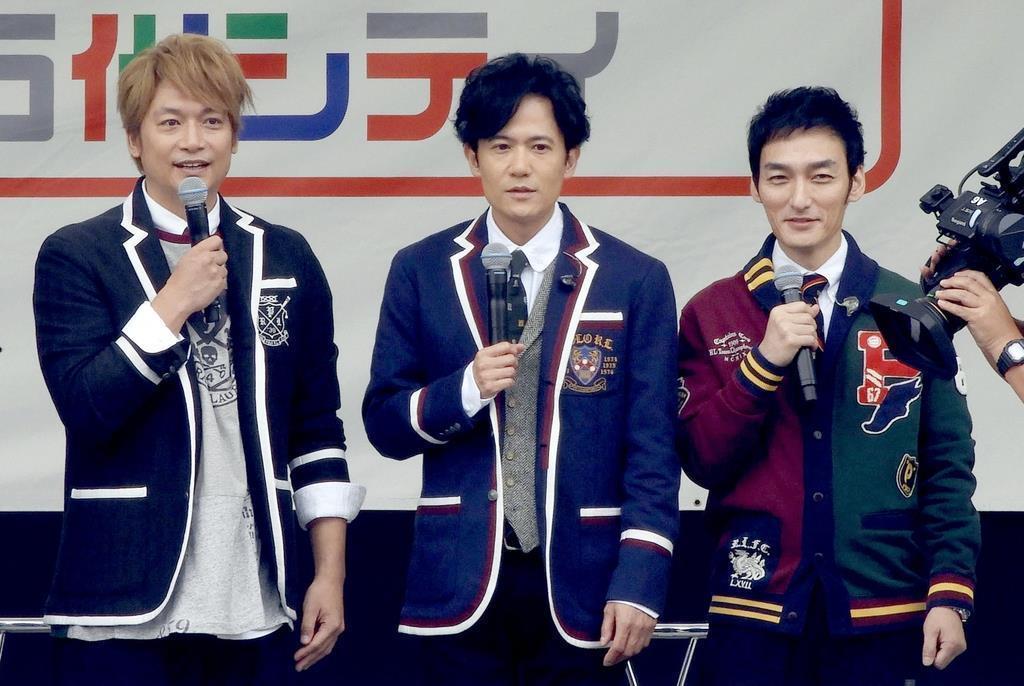 元SMAPの(左から)香取慎吾さん、稲垣吾郎さん、草●(=弓へんに剪)剛さんを出演させないよう、ジャニーズ事務所がテレビ局などに圧力をかけた疑いが浮上した