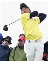 21歳のアマ金谷「悔しい」 18番でボギー 全英ゴルフ