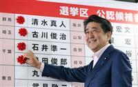 自民、1人区で19勝確実 野党は長野、愛媛など