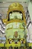 こうのとり8号機を種子島宇宙センターで公開 JAXA、9月打ち上げ計画