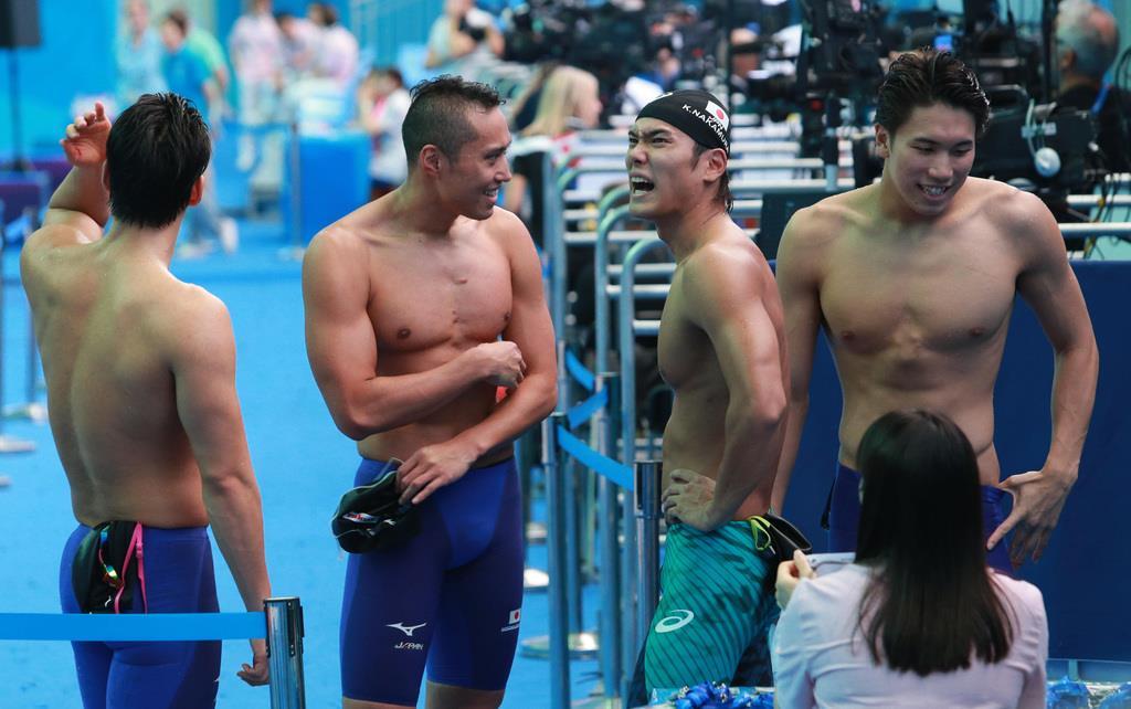 男女400リレーで五輪へ 世界水泳、競泳開始 , 産経ニュース